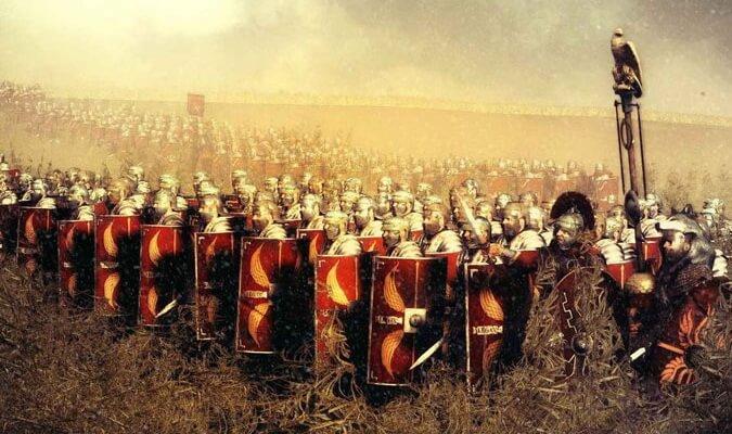 Лагерь легионеров